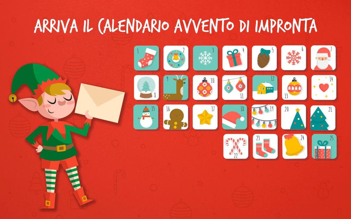 Impronta Herber Mark calendario avvento Natale